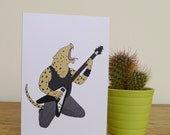 Leopard Greetings Card