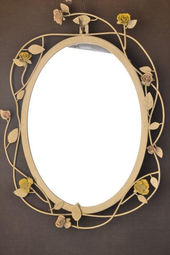 Beautiful vintage flower mirror