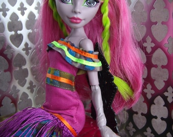 MH Monster Girl High Fashion - Big Sister Dress in Orchid and Olive