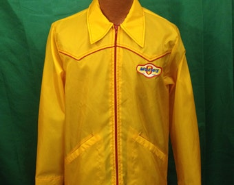 Vintage Moews Seed Corn Western Style Nylon Jacket // Medium // 70s // Retro // Agriculture // Farming // Swingster // Maize