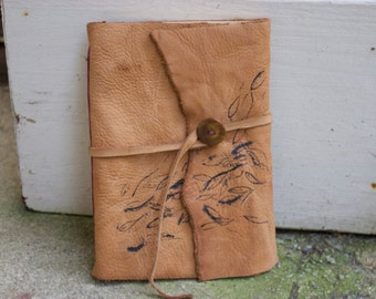 Handmade Leather Journal & Sketchbook with Button Closure