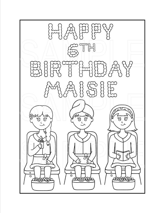 spa party coloring pages - photo#4
