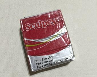 Sculpey 3 Polymer Clay - 1140 Deep Red Pearl - 2oz Single Block