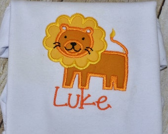 Personalized Little Lion Onsie