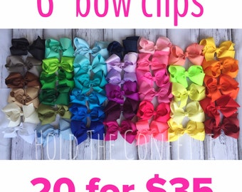 Limited Offer / 6 inch bow clips / 20 bows for 35 dollars