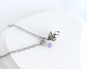 Acorn Necklace - Peter Pan's Kiss Necklace, Peter Pan Necklace, Wendy Necklace, Acorn Kiss, Wendy Darling