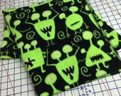 Space Monsters Cuddly Throw Blanket