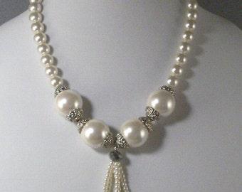 Focal Point Pearl Necklace // Added Tassel // Neck Hugging Shortie // Wedding Wear