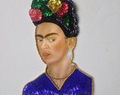 Frida Kahlo Beaded sequined Applique
