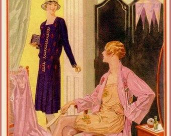 Needlewoman Magazine Cover 1928 - Print