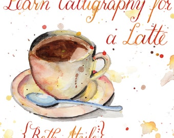 Printable Calligraphy Worksheets : Beth Style {Learn Calligraphy!} - 26 Page Set