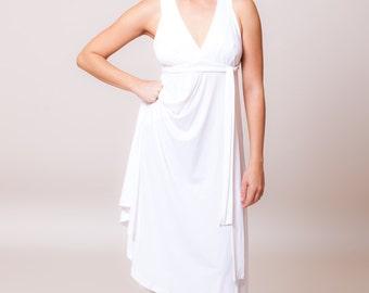 Long white dress, womens casual summer dresses