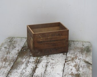 Small Antique Wooden Box Walter Baker and Co Paris Exposition 1900