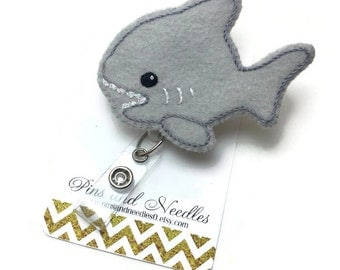 Marine Biology ID Badge Reel - Shark ID Badge Holder - Retractable Badge Reel - Cute Id Badge Reels - Shark ID Badge Reel - Shark Id Badge