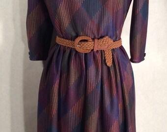 Vintage Walden Classics Short Sleeve Patterned Dress Size 10