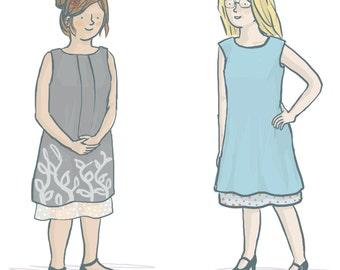 Lou Lou Dress Women's Sewing Pattern – Sleeveless A-line Dress
