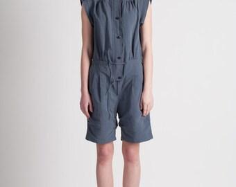 30% Season Off_Linen Puppig Jumpsuit_Deep Indigo Blue