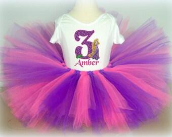Tangled Rapunzel Birthday Tutu Outfit - Rapunzel Tutu