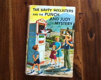 The Happy Hollisters and the Punch and Judy Mystery - Vintage Youth/Children's Hardcover Chapter Book/Novel 1974