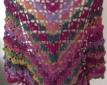 crochet shawl, crochet wrap, crochet triangle scarf, crochet scarf