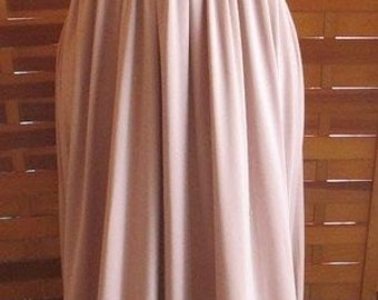 VTG 70s Sleeveless Mauve Maxi Dress Gown S M Junior Scene Boho Grecian