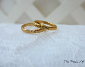 mini faux wedding bands wedding rings for your ring pillow anniversary bridal shower wedding favors by the pair silver or gold - Fake Wedding Ring