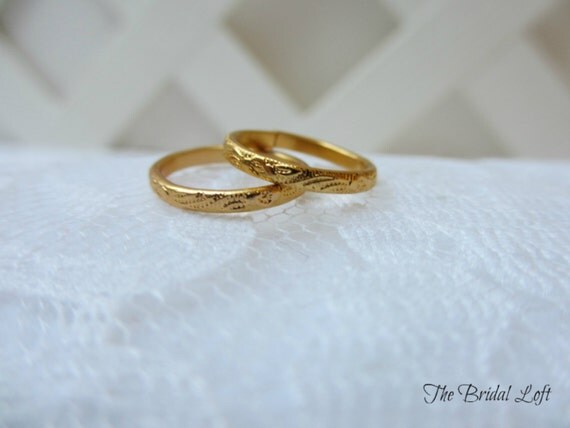 MINI Faux Wedding Bands Wedding Rings for your Ring Pillow