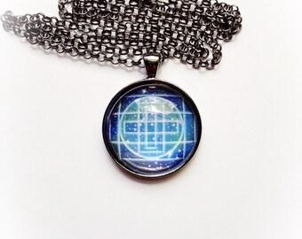Space Earth Mandala Necklace