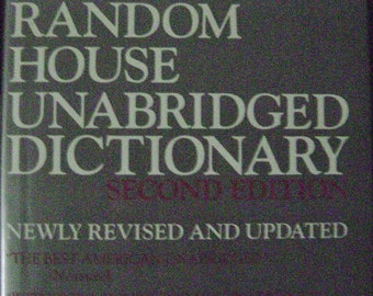 Random House Hardcover Unabridged Dictionary 1983 2nd Edition English Language