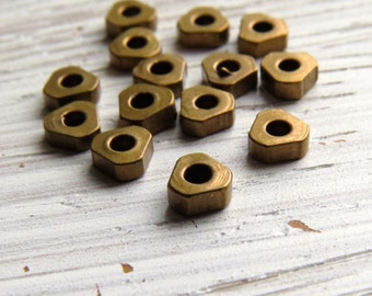 Solid brass rounded-triangle washer disc beads - 1-2 x 4.5mm triangle spacers (50) 1.5 x 4mm, brass beads, spacer beads, washers