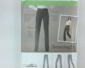 Simplicity 2860 Amazing FIt Custom Pants Trousers Uncut Pattern Sz 8 10 12 14 16