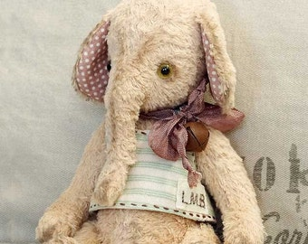 Handmade elephant Alfy, OOAK