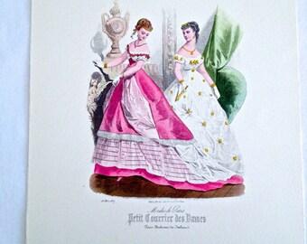 Modes de paris vintage fashion print petit courrier des dames - Des petits hauts paris ...