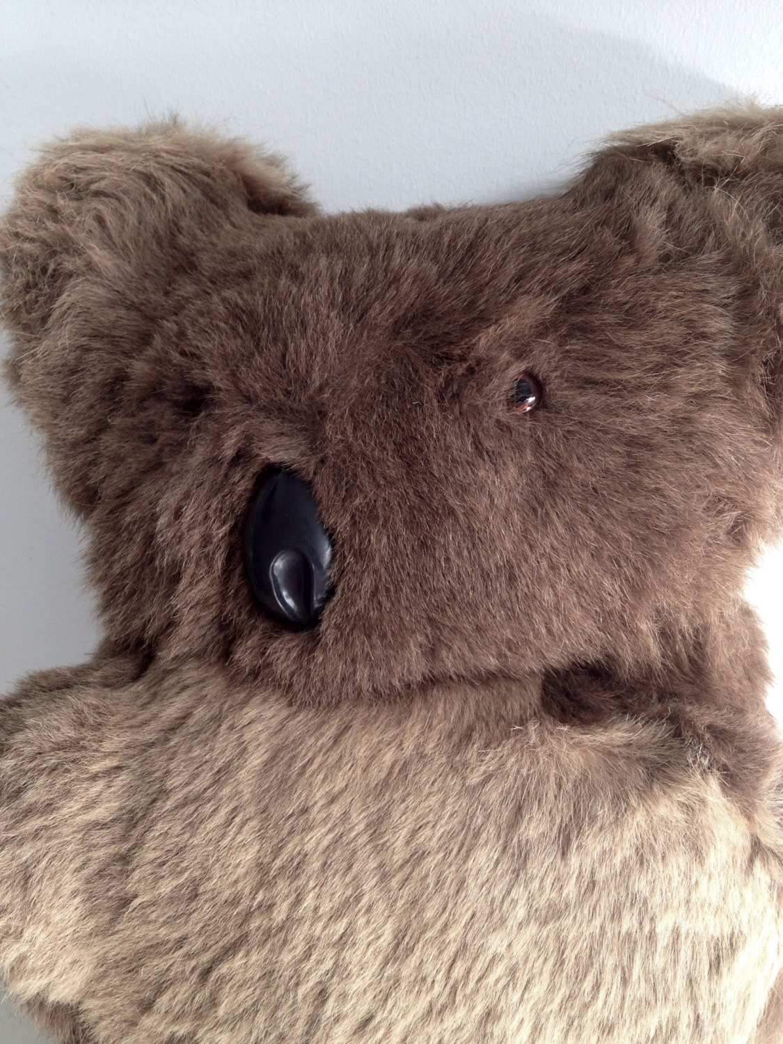Vintage Koala Bear 1950s Large Real Fur Koala Very Soft