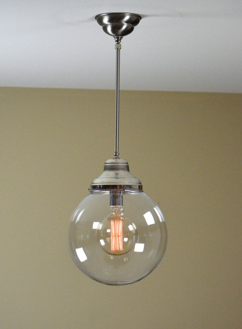 Pendant light fixture large globe pendant chandelier sphere - Light fixtures chandeliers ...