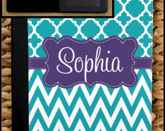"""Kindle Fire Case Kindle 7"""" Case Kindle HD Case Nook Color Case Notebook Folio Case Monogrammed Personalized Custom Electronic Accessories"""