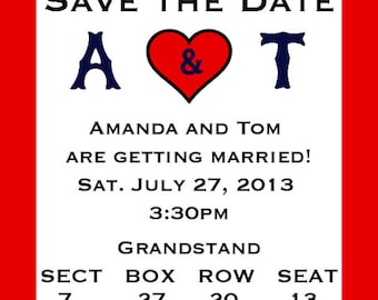 Red Sox Baseball Save the Date wedding