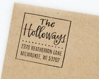 Custom Address Stamp / Return Address Stamp / Personalized Calligraphy Stamp / LetteredLifeShop Return Address Stamp / Holloways