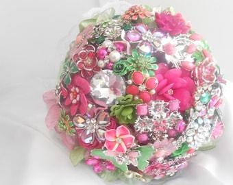 Bridal Brooch Jewelry Bouquet Open Booking Deposit  Rhinestone Wedding Flowers Custom Broach Bouquet