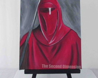 """Star Wars Emperor's Royal Guard Art Painting Acrylics On Stretched Canvas 8"""" x 10"""""""