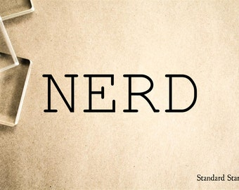 Nerd Rubber Stamp - 2 x 2 inches