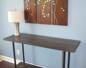 Rustic Buffet Table and Sofa Table - Industrial Metal Legs