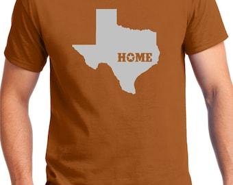 TEXAS HOME SHIRT, Texas Orange , Texas, From Texas,Born in Texas, Texas t-shirt, Love Texas, Don't mess with Texas, State Shirt ,Texas Home