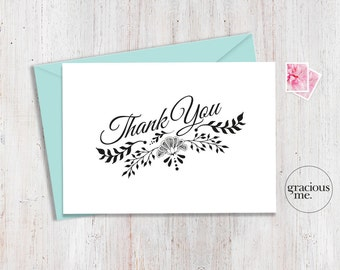 Thank You Card A6 - Instant Download - Printable - Thank-you Card. Various sizes available