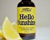 Hello Sunshine --- A Bergamot Aromatherapy Spray/ Perfume to Kick-Start Your Spirits