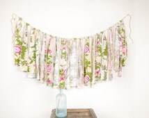 Popular items for torn fabric garland on etsy for Arland decoration