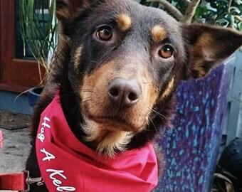 Dog Bandana - Hug a Kelpie!