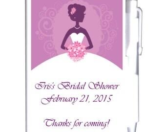 24 Purple Bridal Shower Notebook Favors