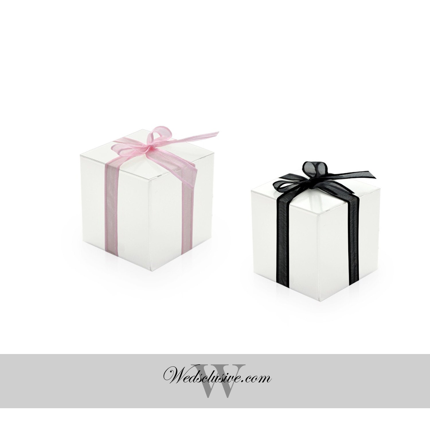 Wedding Favor Boxes White : White favor boxes diy wedding favors truffle and candy