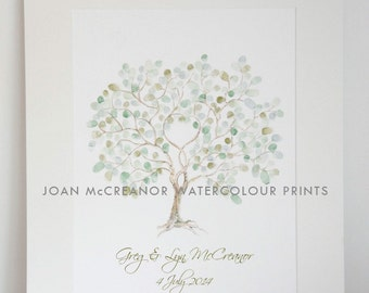 Fingerprint Tree | Wedding Guest Book | Guest Book | Unique Guestbook | Wedding Gift |